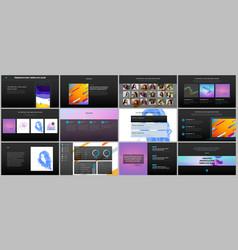 minimal presentations portfolio templates simple vector image