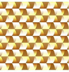 mosaic golden geometric seamless pattern vector image