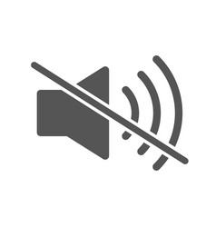 mute sound icon filled flat sign speaker vector image