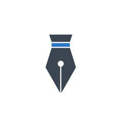 nib related glyph icon vector image