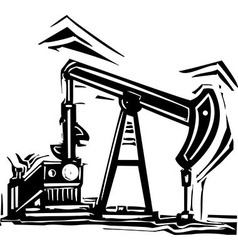 Oil Pumpjack vector