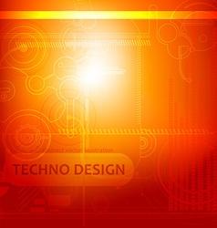 Orange Techno Background vector