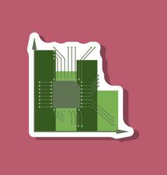 Paper sticker on stylish background vector