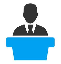 Politician flat icon vector