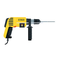 Power tools hammer drill vector