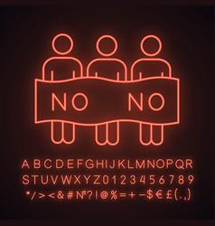 protest event neon light icon vector image