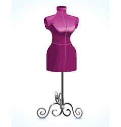Purple female mannequin vector