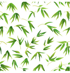 Seamless background bamboo leaves vector