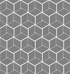 Seamless hexagonal line cube pattern vector