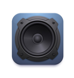 sound speaker icon audio music stereo system vector image