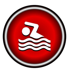 Swimming icon sign on white background vector image