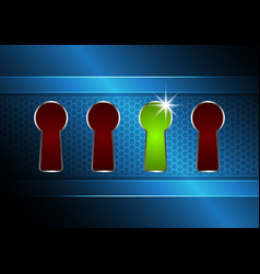 Technology digital cyber security keyhole vector
