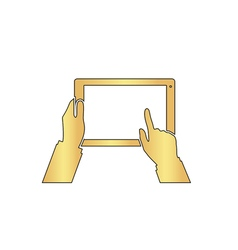 Use Tablet computer symbol vector