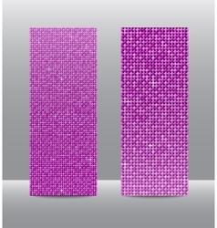 Vertical set Pink sequins banners Glitter vector image vector image