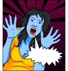 Vintage Vampire Comics vector image