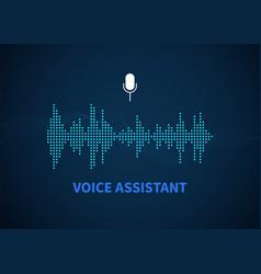 Voice assistant color sound recognition wave vector