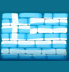 Wall painted with flag of greece vector