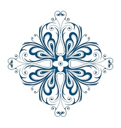 Winter snowflake shape as floral ornament vector image