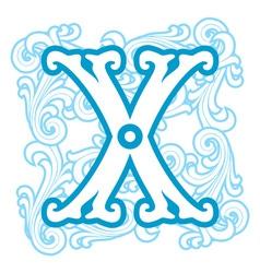 winter vintage letter X vector image
