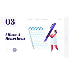 woman stuff and lifestyle website landing page vector image