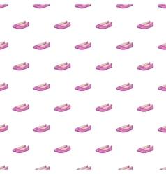 Women flat shoes pattern cartoon style vector