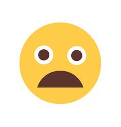 Yellow cartoon face scream shocked emoji people vector