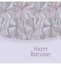 Boho style template Happy birthday card design vector image vector image