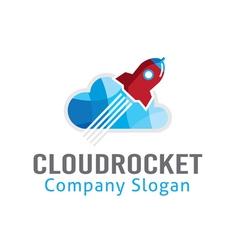 Cloud Rocket Design vector image vector image