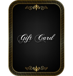 Gift card black vector image