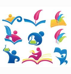 symbols of education vector image