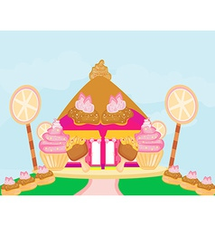 Candy house vector image vector image