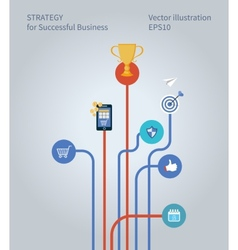 Concept for business strategy marketing research vector image vector image