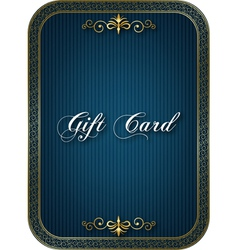 Gift card blue vector image