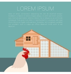 Henhouse banner with chicken vector image
