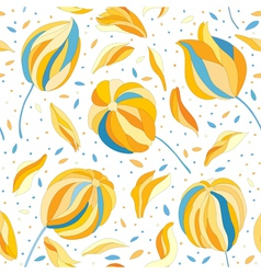 seamless pattern with colorful flower buds vector image