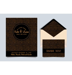 Wedding invitation card Art Deco vector image