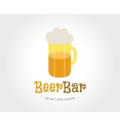 Abstract beer logo template for branding vector image vector image