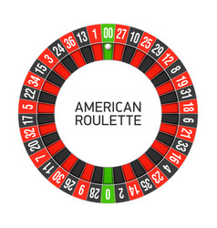 american roulette wheel vector image