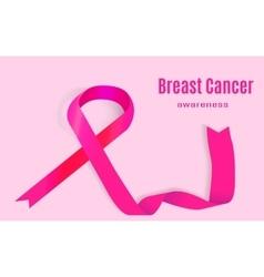 Awareness pink ribbon the international symbol of vector