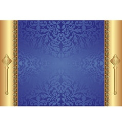 gold blue background vector image vector image