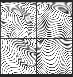 ocean wavy line textures outline ripple vector image