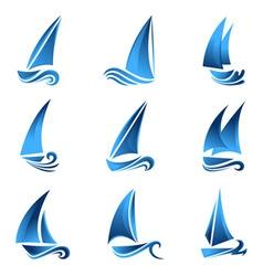sailboat symbol vector image vector image