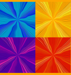 set of rays and lines from the center vector image