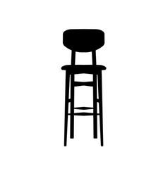 black bar stool bar chair vector image