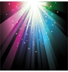 colorful ray lights vector image vector image