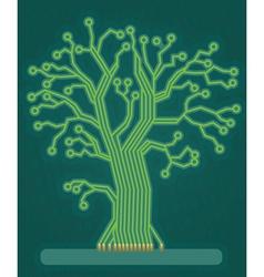 Green Circuit Board Tree vector image vector image