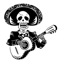 Mariachi guitar player vector image