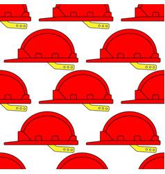 safety hardhat pattern vector image