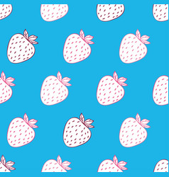 trendy youthful pattern withstrawberries vector image vector image
