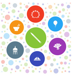 7 culture icons vector